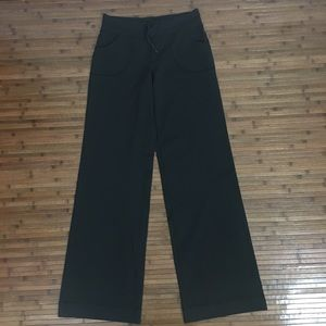 Lululemon Black Wide Leg Drawstring Pants Long